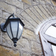 Street lamp and window — Stock Photo