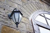 Street lamp and window — Stock Photo