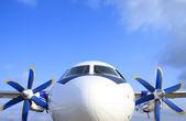 The passenger plane — Stock Photo