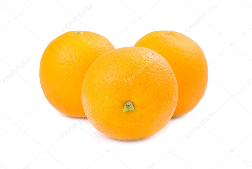 Three Orange fruits isolated on white background — Stock Photo #2774601