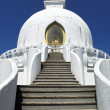 Beautiful white stupa - Stok fotoğraf