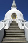Beautiful white stupa — Stock Photo