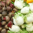 Close up of vegetables on market stand — Stock Photo #3016459