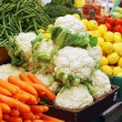Close up of vegetables on market stand — Stock Photo #3066386