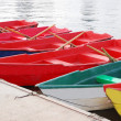 Many colorful boats — Stock Photo