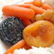Stewed carrots with rice — Stock Photo