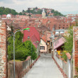 Old street and village panorama - Stock Photo