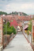 Old street and village panorama — Stock Photo