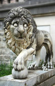 Lion from Pelesh Palas in Romania — Stock Photo
