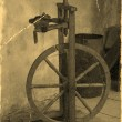 Old spinning wheel — Stock Photo