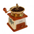 Retro mechanical coffee grinder on — 图库照片