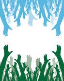 Hands symbol of diversity — Stock Vector