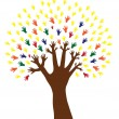 Royalty-Free Stock Vector Image: Hand tree