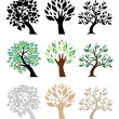 Stock Vector: Set of trees