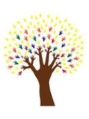 Hand tree — Stock Vector