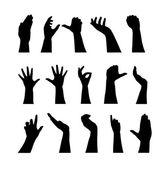 Silhouettes de main — Vecteur