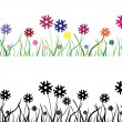 Multicolor flower field — Stock Vector
