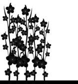 Floral invitation — Vector de stock