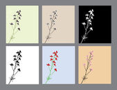 Inviti floreali insieme — Vettoriale Stock