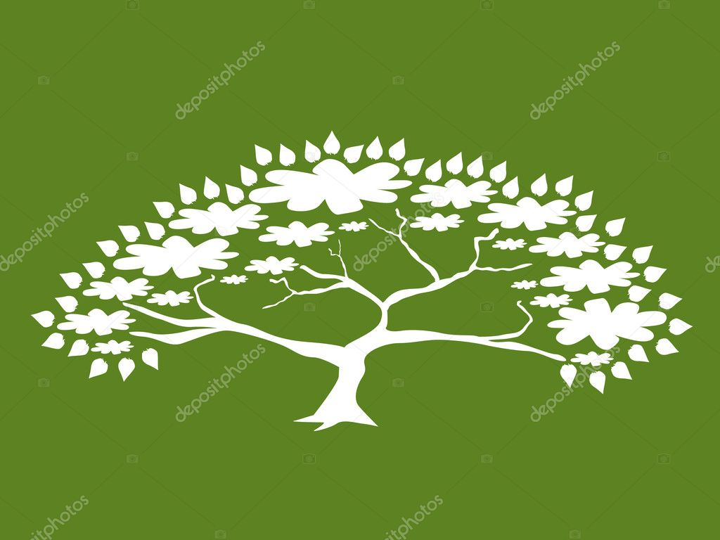 Abstract tree, symbol of nature — Stock Vector #3496305