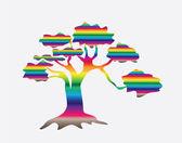Multicolor abstract tree — Stock Vector