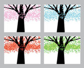 Abstract trees set — Stock Vector