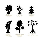 Set of abstract trees — Stock Vector
