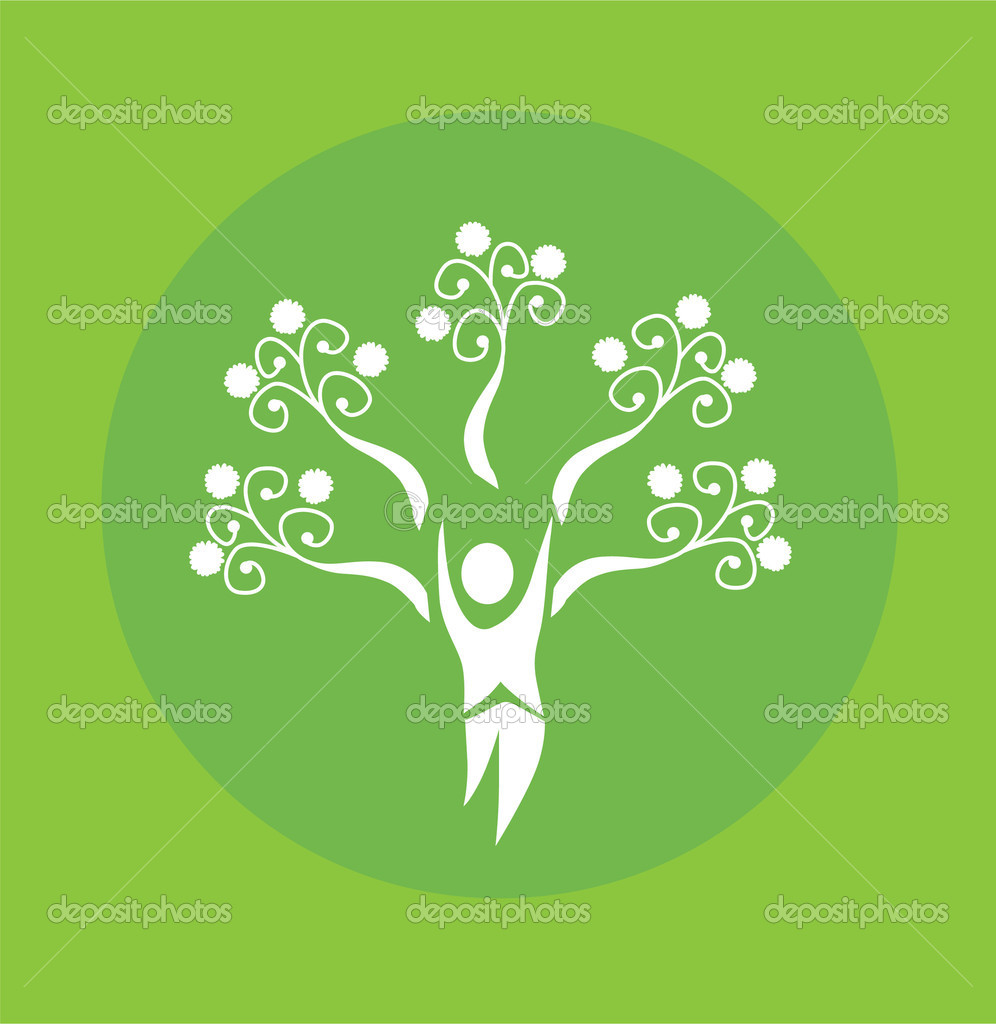 Abstract human tree, symbol of life and nature — Stock Vector #3707081