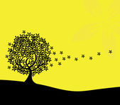 Abstract tree silhouette — Vector de stock