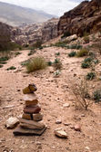 Path with bedouin sign — Stock Photo