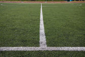 Lines on soccer field — Photo