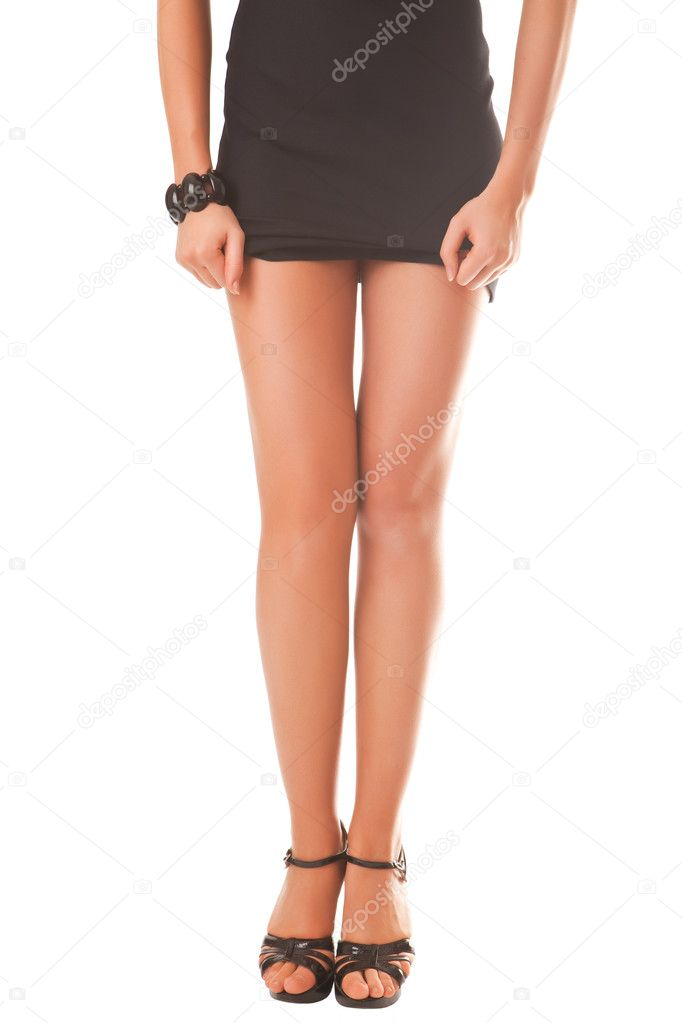 Beautiful female legs isolated on a white background — Stock Photo #3112289