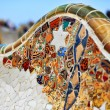 Detail of bench by Gaudi - Stock Photo