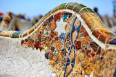Detail of bench by Gaudi — Stock Photo