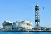Cable car across Barcelona port — Stock Photo