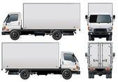 Entrega do vetor / caminhão de carga — Vetorial Stock