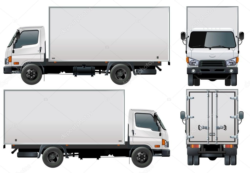 Vector delivery / cargo truck  Stok Vektr #3288433
