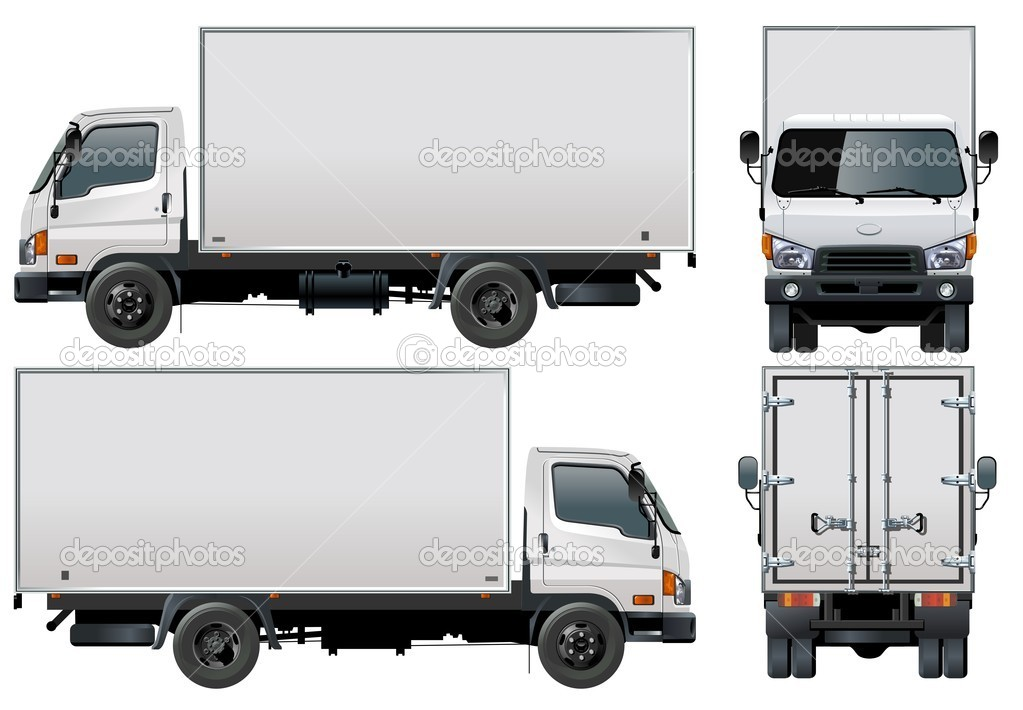 Vector delivery / cargo truck  Image vectorielle #3288433