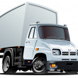 Royalty-Free Stock Vektorgrafik: Vector cartoon cargo truck