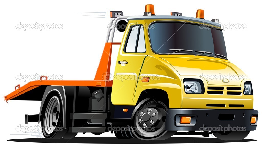 Vector cartoon tow truck — Stock Vector #3317880
