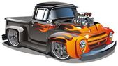 Vector cartoon hot-rod — Stock Vector