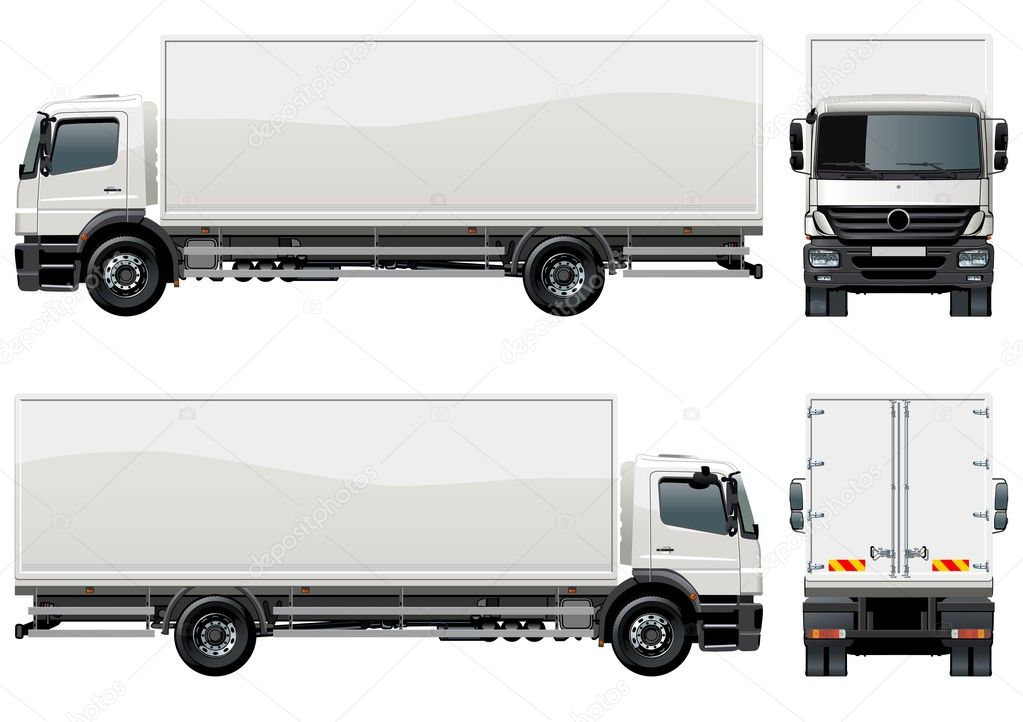 Vector delivery / cargo truck — Stockvectorbeeld #3642519