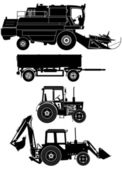 Agricultural vehicles set — Stock Vector