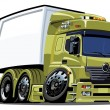 Royalty-Free Stock Vektorgrafik: Vector cartoon delivery / cargo truck