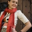 The Red Scarf — Stock Photo