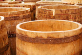 Cheese casks — Stock Photo