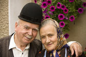 Old couple portrait — Stock Photo
