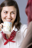 Cheerful chatting — Stock Photo