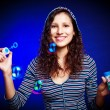Royalty-Free Stock Photo: Pretty girl with soap bubbles