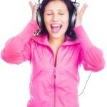 Girl with earphones — Stock Photo #3183957